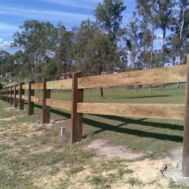 Hardwood Sleeper Fence