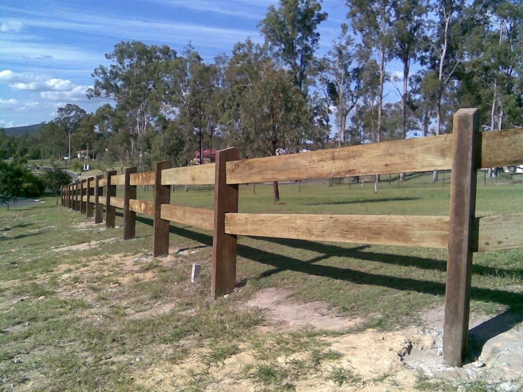 Hardwood Sleeper Fence